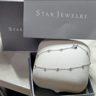 STAR JEWELRY - STAR JEWELRY Pt950 天然ダイヤモンド ブレスレット