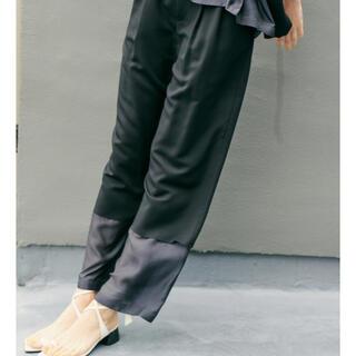 LE CIEL BLEU - ルシェルブルー パンツ Contrasting Fabric Pants 38