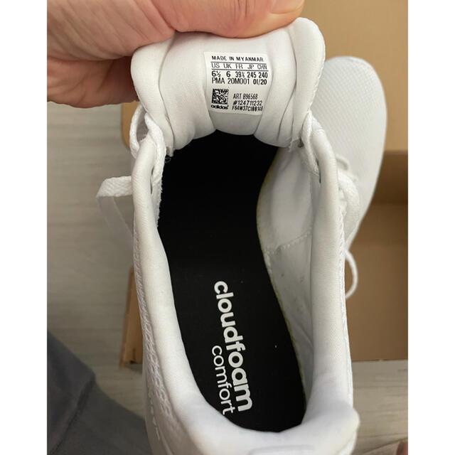 adidas(アディダス)のアディダス 白スニーカー ランニングシューズ 24.5 レディースの靴/シューズ(スニーカー)の商品写真