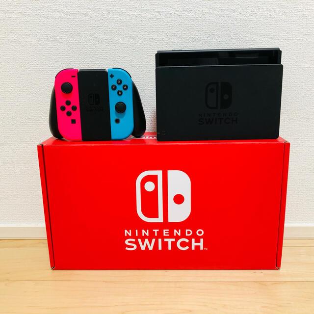 Nintendo Switch(ニンテンドースイッチ)のSwitch本体セット(ネオンピンク・ネオンブルー) エンタメ/ホビーのゲームソフト/ゲーム機本体(家庭用ゲーム機本体)の商品写真