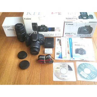 Canon - Canon キヤノン EOS KISS X5 ダブルレンズキット ジャンク品