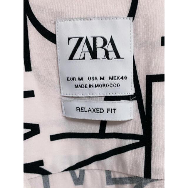 ZARA(ザラ)の【ZARA】ザラ 総柄シャツ 半袖 レモン柄 レーヨン オープンカラー 開襟 メンズのトップス(シャツ)の商品写真