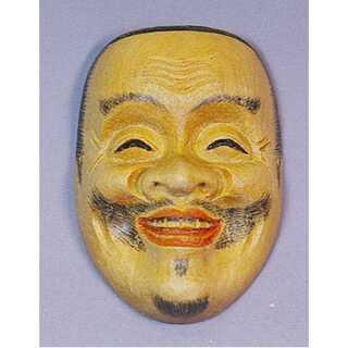 能面師 長澤草春作◆能面形帯留 【恵比寿】 共箱◆新品未使用(彫刻/オブジェ)
