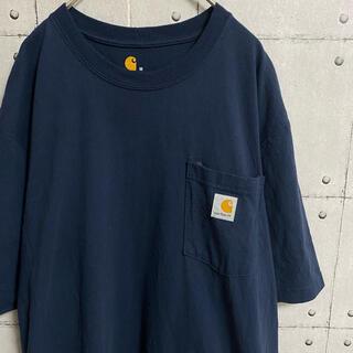 カーハート(carhartt)のカーハート Tシャツ ポケt オーバーサイズt ネイビー Carhartt(Tシャツ/カットソー(半袖/袖なし))