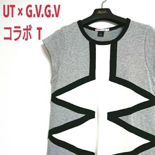 ユニクロ(UNIQLO)のUT × G.V.G.V コラボ Tシャツ ワンピース  ロング丈 チュニック(Tシャツ(半袖/袖なし))