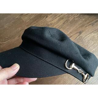 シマムラ(しまむら)のプチプラのあや コラボ キャスケット 帽子 キャップ 黒 ブラック あや (キャップ)