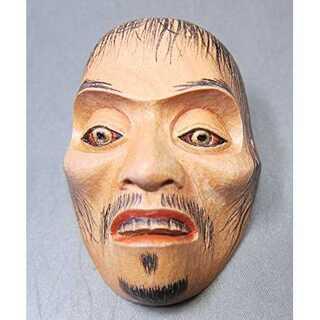 能面師 長澤草春作◆能面形帯留 【蛙】 共箱◆新品(彫刻/オブジェ)