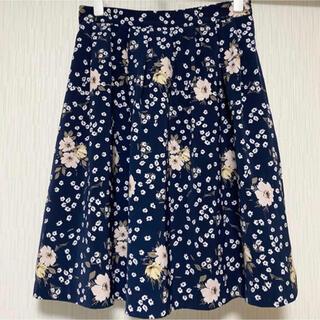 インデックス(INDEX)のindex  花柄フレアースカート(ひざ丈スカート)