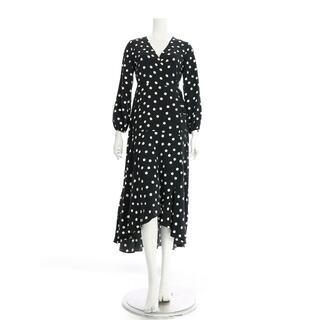 ウォリス(Wallis)のウォリス☆ブラックポルカドットミディラップドレス(ミディアムドレス)