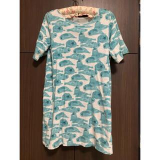 Design Tshirts Store graniph - グラニフ ワンピース  ロングTシャツ