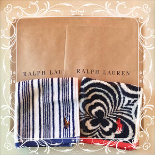 ラルフローレン(Ralph Lauren)のラルフローレン ミニタオル ハンカチ 2枚セット ⑭(ハンカチ)