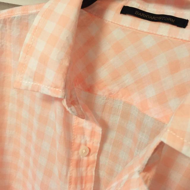 BARNYARDSTORM(バンヤードストーム)のバンヤードストーム ピンクチェックシャツ レディースのトップス(シャツ/ブラウス(長袖/七分))の商品写真