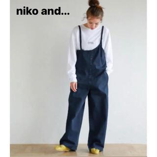 niko and... - 値下げ niko and  アシメサロペ デニム  サロペット オーバーオール