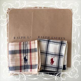 ラルフローレン(Ralph Lauren)のラルフローレン ミニタオル ハンカチ 2枚セット ㉒(ハンカチ)