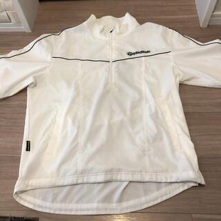テーラーメイド(TaylorMade)の数回着用美品テーラーメイド白の半袖ジャンパーM(ウエア)