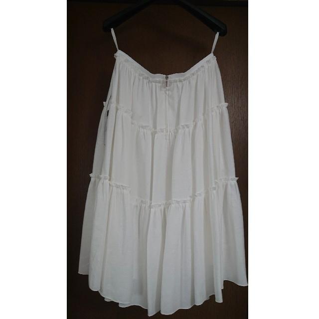 FOXEY(フォクシー)の新品未使用 フォクシー FOXEY  リネンライク ティアードスカート レディースのスカート(ひざ丈スカート)の商品写真