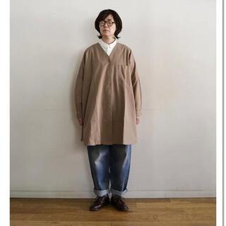 ムジルシリョウヒン(MUJI (無印良品))の新品未使用タグ付き 無印良品 インド綿ドビー織りチュニック オフ白(チュニック)