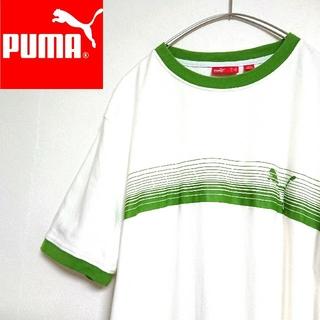 PUMA - 90s PUMA プーマ ワンポイントロゴ  Tシャツ ストライプボーダーライン
