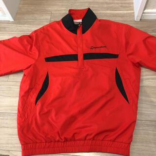 テーラーメイド(TaylorMade)の数回着用テーラーメイド赤と黒の半袖ジャンパーM(ウエア)