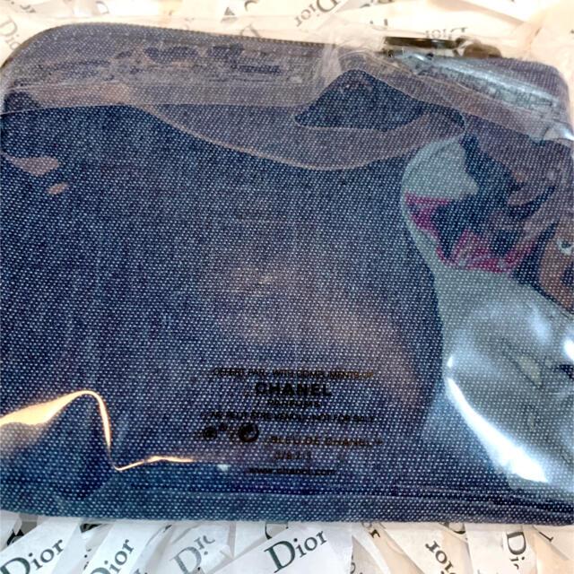 CHANEL(シャネル)のCHANEL シャネル ノベルティ デニム ポーチ コインケース レディースのファッション小物(ポーチ)の商品写真