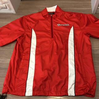 テーラーメイド(TaylorMade)の未使用自宅保管テーラーメイド赤と白の半袖ジャンパーM(ウエア)