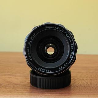 ペンタックス(PENTAX)の【美品】Super Multi Coatedタクマー 28mm f3.5 人気(レンズ(単焦点))