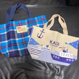 カルディ(KALDI)のミニトートバッグ ハンドバック カルディ KALDI  2個セット(ハンドバッグ)