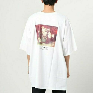 【新品】unrelaxing  綿100% ゴッホ絵画デザインTシャツ M(Tシャツ/カットソー(半袖/袖なし))