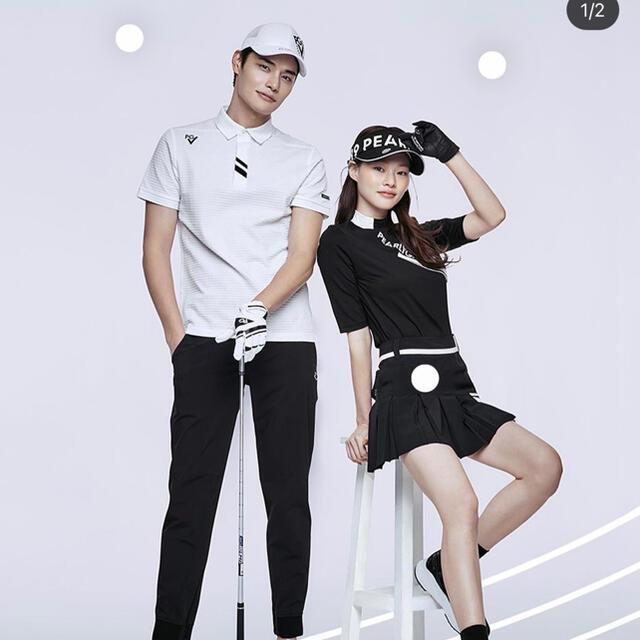 PEARLY GATES(パーリーゲイツ)の【新品】韓国 パーリーゲイツ 半袖 ハイネック トップス ゴルフウェア ゴルフ スポーツ/アウトドアのゴルフ(ウエア)の商品写真