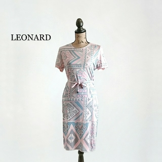 LEONARD - LEONARD レオナール ワンピース シルク