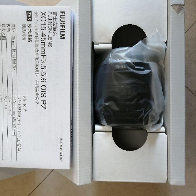 富士フイルム(フジフイルム)の新品 保証付き フジフィルム XC15-45mm F3.5-5.6 OIS PZ スマホ/家電/カメラのカメラ(レンズ(ズーム))の商品写真