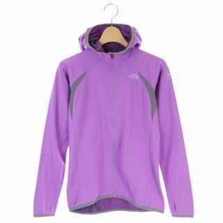 ザノースフェイス(THE NORTH FACE)のザノースフェイス パーカー ジップアップ 薄手 長袖 S 紫 NTW35109(パーカー)