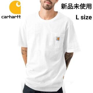 カーハート(carhartt)の新品未使用 カーハート ポケット Tシャツ ホワイト K87 WHT L(Tシャツ/カットソー(半袖/袖なし))