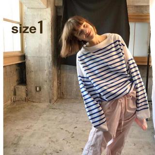 ワンエルディーケーセレクト(1LDK SELECT)のOUTIL ウティ TRICOT AAST バスクシャツ サイズ1(Tシャツ/カットソー(七分/長袖))