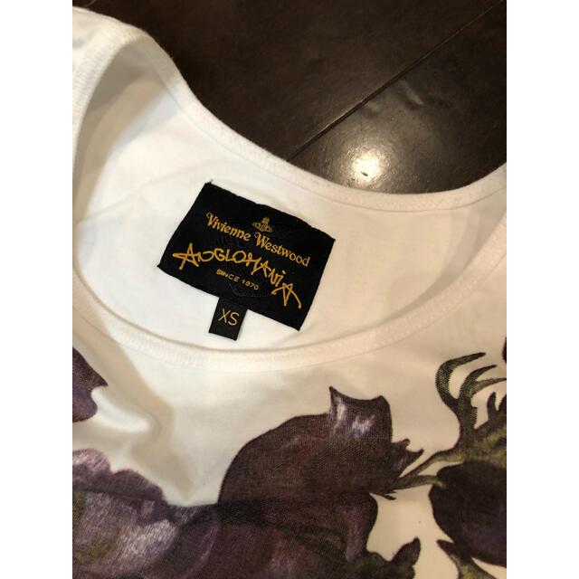 Vivienne Westwood(ヴィヴィアンウエストウッド)のヴィヴィアンウエストウッドアングロマニア Tシャツ36 レディースのトップス(Tシャツ(半袖/袖なし))の商品写真