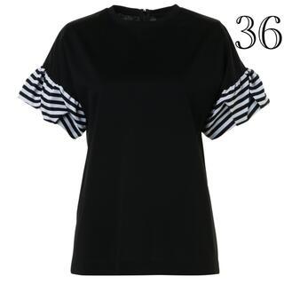 バーニーズニューヨーク(BARNEYS NEW YORK)の今期新品タグ付/ボーダーズアットバルコニー JELLY TEE  黒 36(Tシャツ(半袖/袖なし))