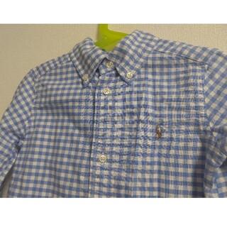 Ralph Lauren - ☆ラルフローレン☆チェックシャツ ブルー 3T 110