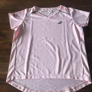 バボラ(Babolat)のバボラ   ゲームTシャツ ピンク訳あり(ウェア)