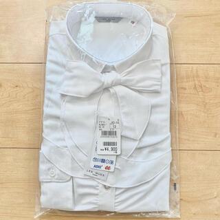 アオキ(AOKI)のCanCamコラボ 白ストライプ 2wayリボンスキッパーシャツ(シャツ/ブラウス(長袖/七分))