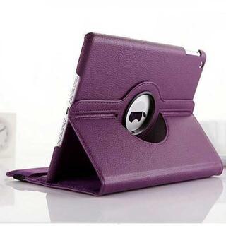 パープル iPad mini5 mini4 シンプル タブレット 手帳型ケース (タブレット)