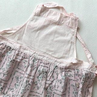 ローラアシュレイ(LAURA ASHLEY)の新品♡ローラアシュレイ エプロン ピンク ストライプ 花柄(収納/キッチン雑貨)
