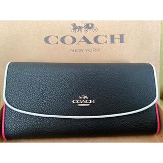 COACH - 即日発送 新品未使用 COACH コーチ 長財布 折りたたみ 白ライン