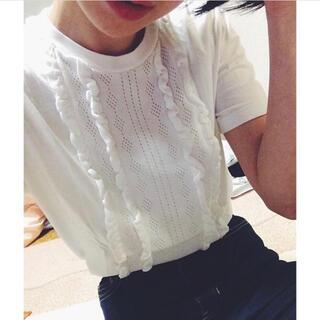 miumiu - miumiu ミュウミュウ フリルトップス カットソー Tシャツ 即購入◯