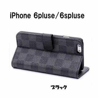 特別SALE!iPhone6プラス/6sプラス 手帳型ケース チェック柄(iPhoneケース)
