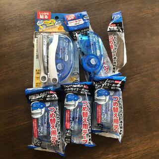 コクヨ(コクヨ)のコクヨ テープのり ドットライナー  ホールド  本体+詰め替え4個付き(消しゴム/修正テープ)