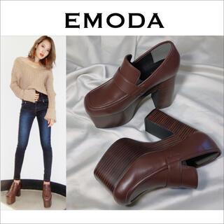 EMODA - EMODA ボリュームウッドローファー 靴*ムルーア GYDA ENVYM