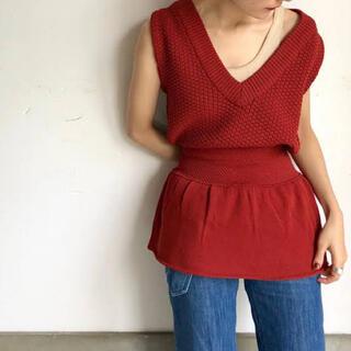 TODAYFUL - corset knit tops  LEINWANDE コルセットニット