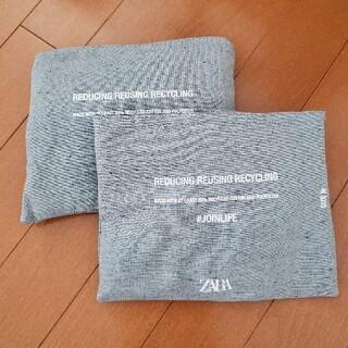ザラ(ZARA)の最安値 新品 ZARA エコバッグ リサイクルコットン M L 2個セット(エコバッグ)