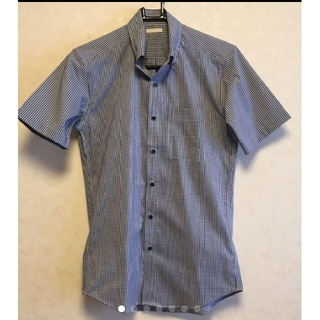 GU - 【半袖シャツ】GU チェックシャツ ジーユー