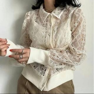 アメリヴィンテージ(Ameri VINTAGE)のLACE POLO SHIRT アメリヴィンテージ(ポロシャツ)